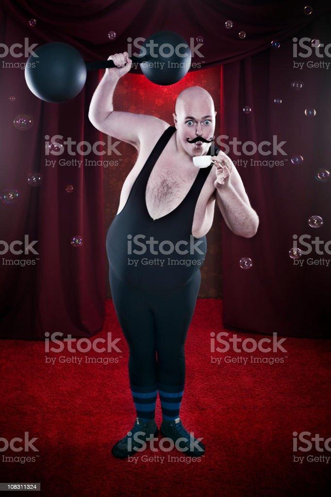 Sensitive Strongman royalty-free stock photo