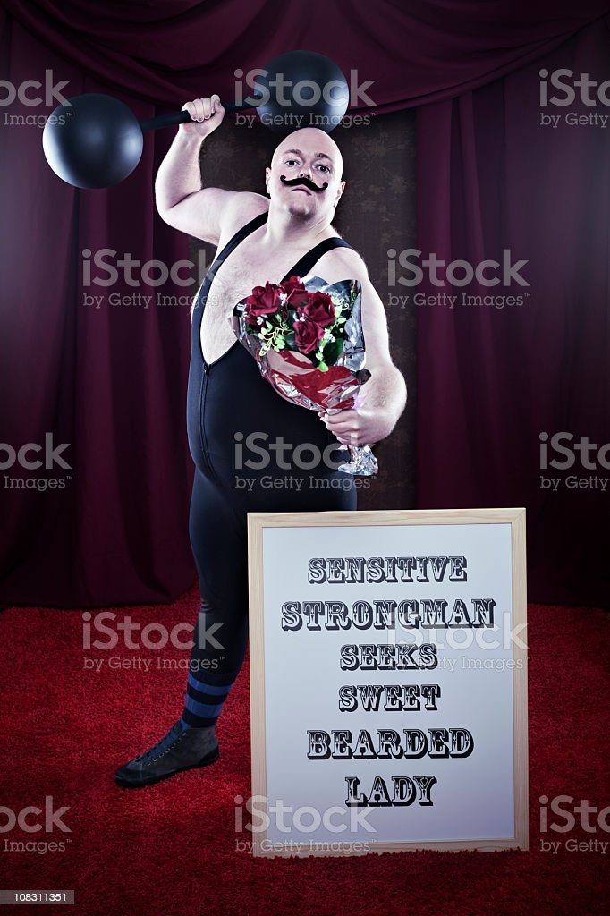 Sensitive Strongman royalty-free stock photo