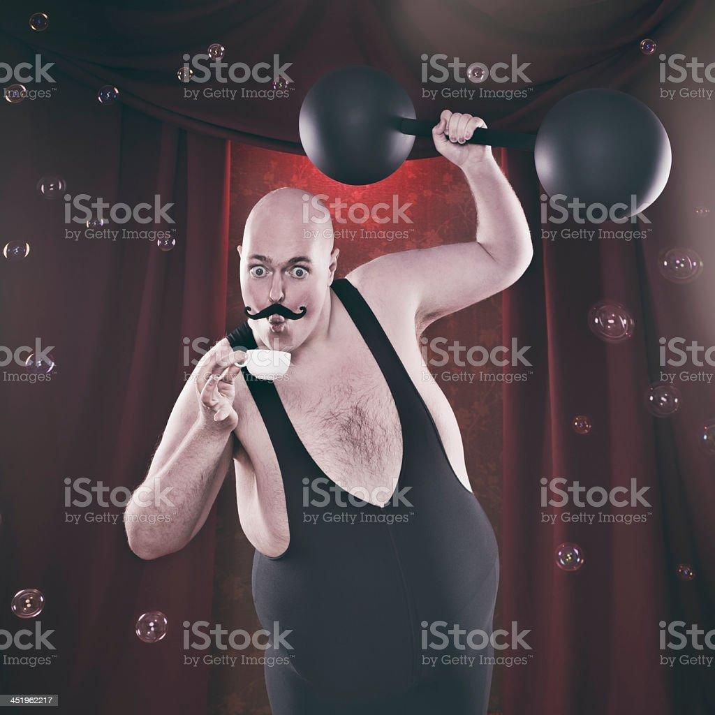 Sensitive Strongman stock photo