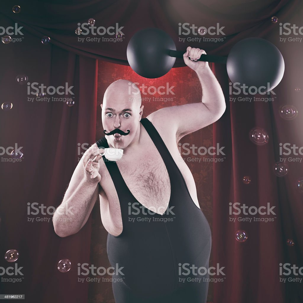 Sensitive Strongman stock photo