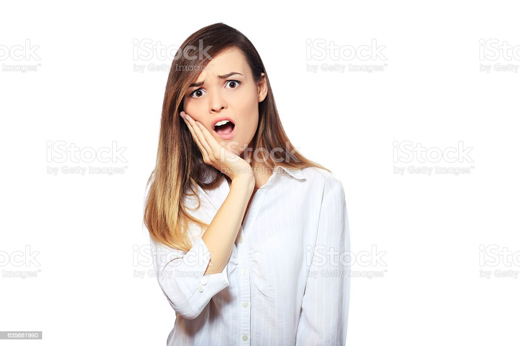 sensitive tooth ache stock photo