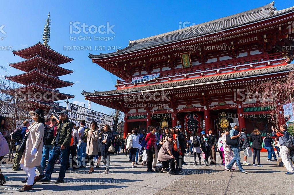 Sensoji Asakusa Temple, Tokyo, Japan stock photo
