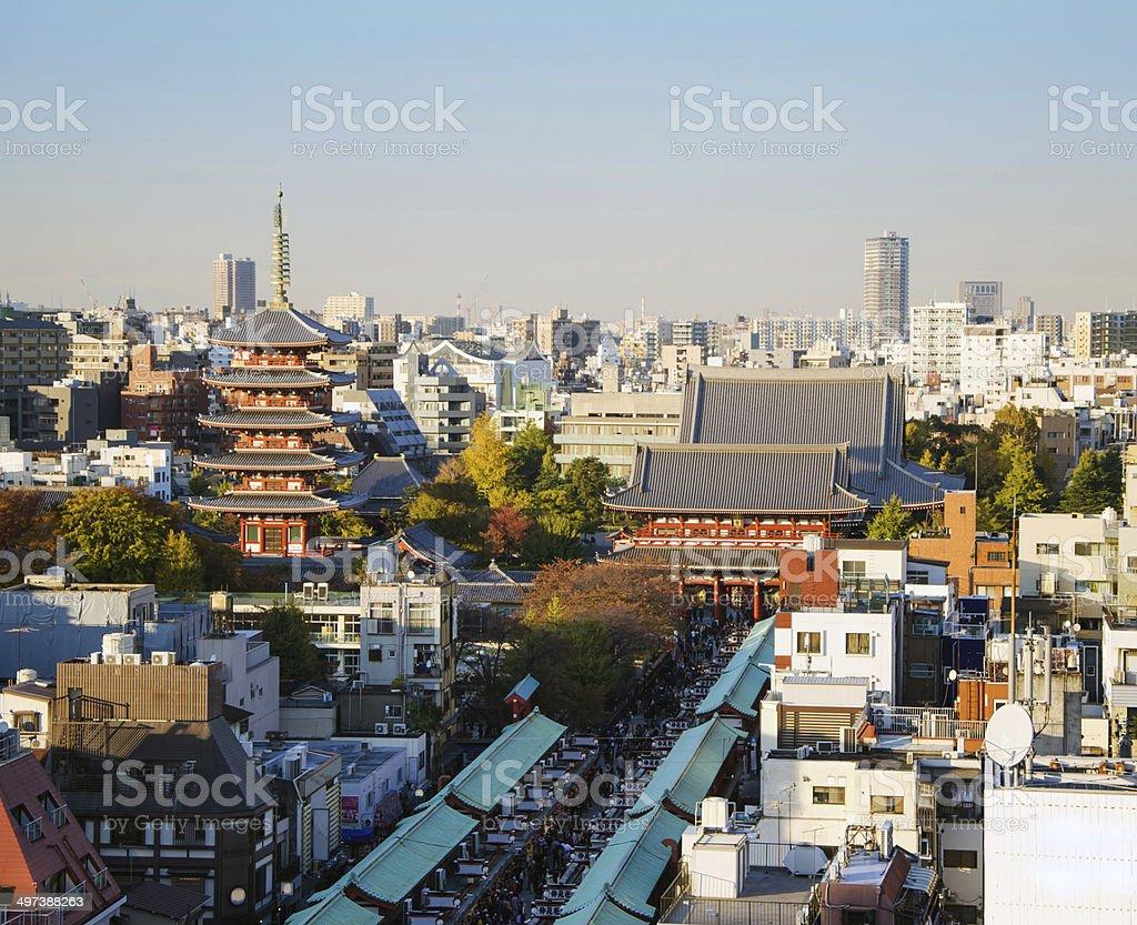 Senso-ji Temple in Asakusa, Tokyo, Japan. stock photo