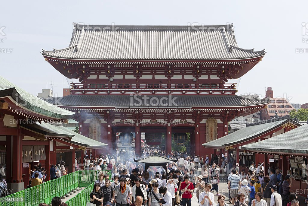 Sensoji Temple in Tokyo, Japan royalty-free stock photo