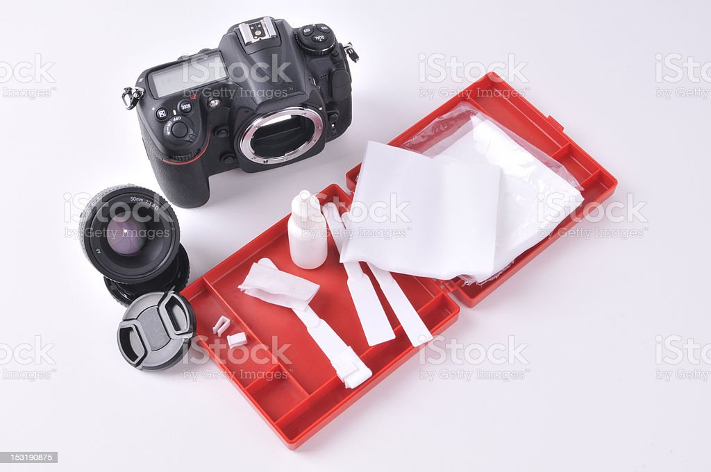 Sensor cleaning royalty-free stock photo
