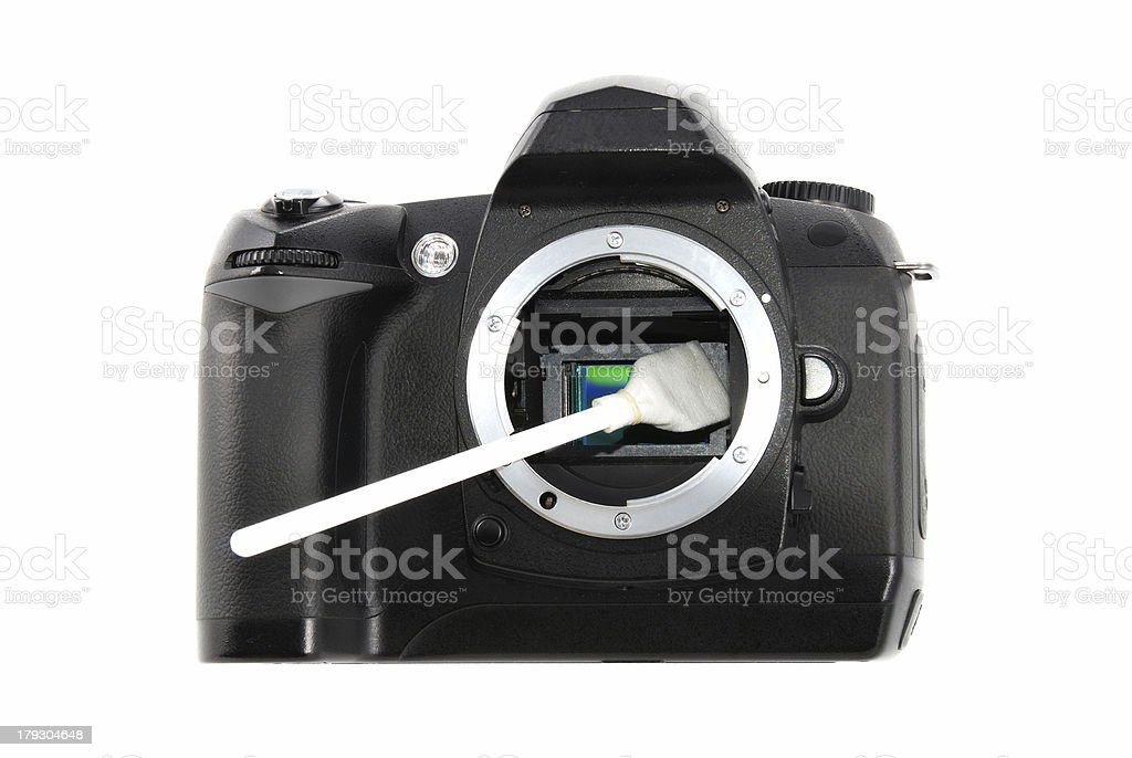 DSLR sensor cleaning royalty-free stock photo