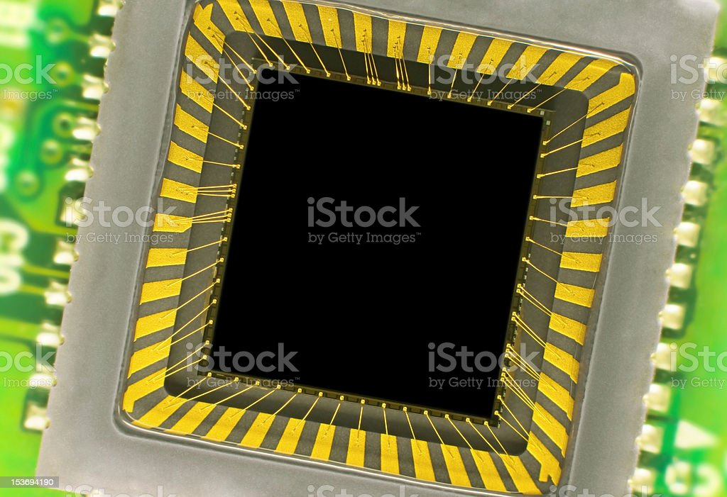 CCD sensor on a card royalty-free stock photo