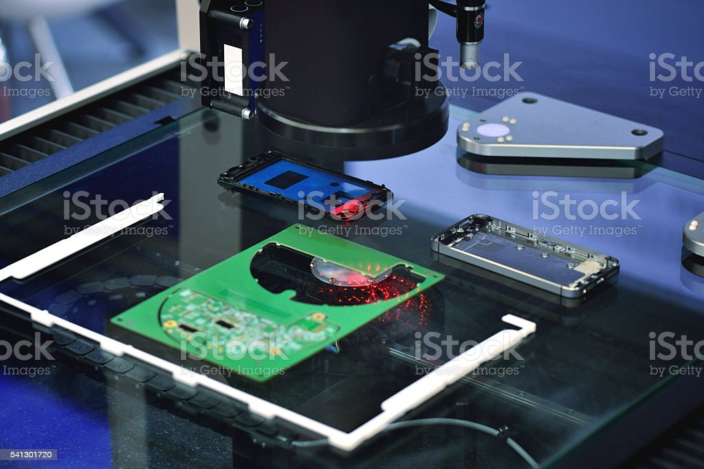 Sensor Scanning stock photo