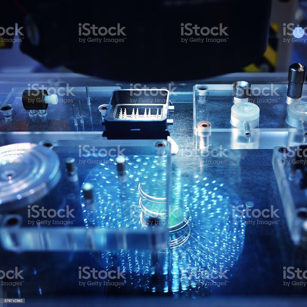 Sensor Scanning Workbench stock photo
