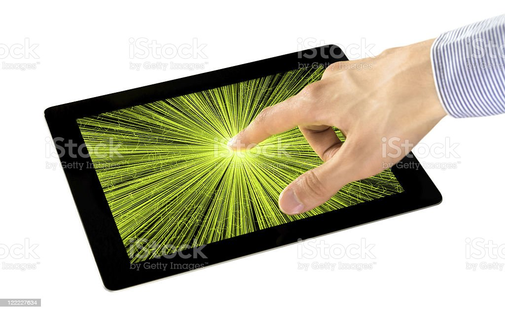 Sensory Perception on Digital Tablet royalty-free stock photo