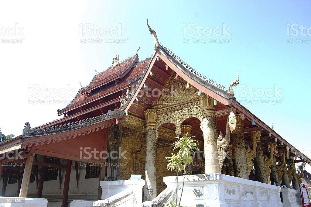 Sensoukharam Temple in Luang Prabang City at Loas stock photo