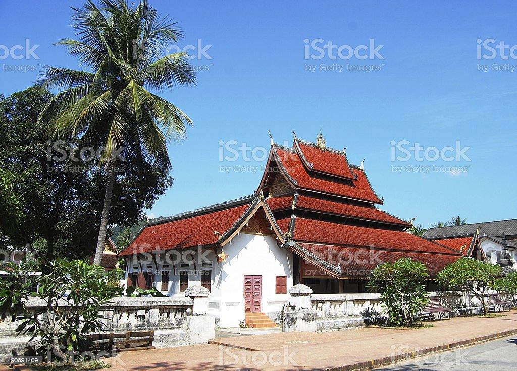 Sensoukharam Temple Temple in Luang Prabang City at Loas stock photo