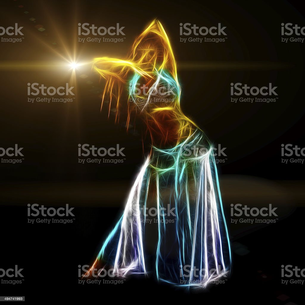 Sensual belly dancer royalty-free stock photo