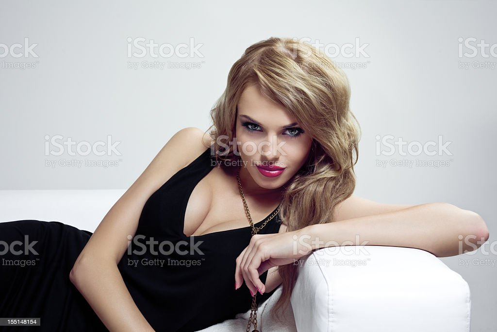 Sensual blonde stock photo