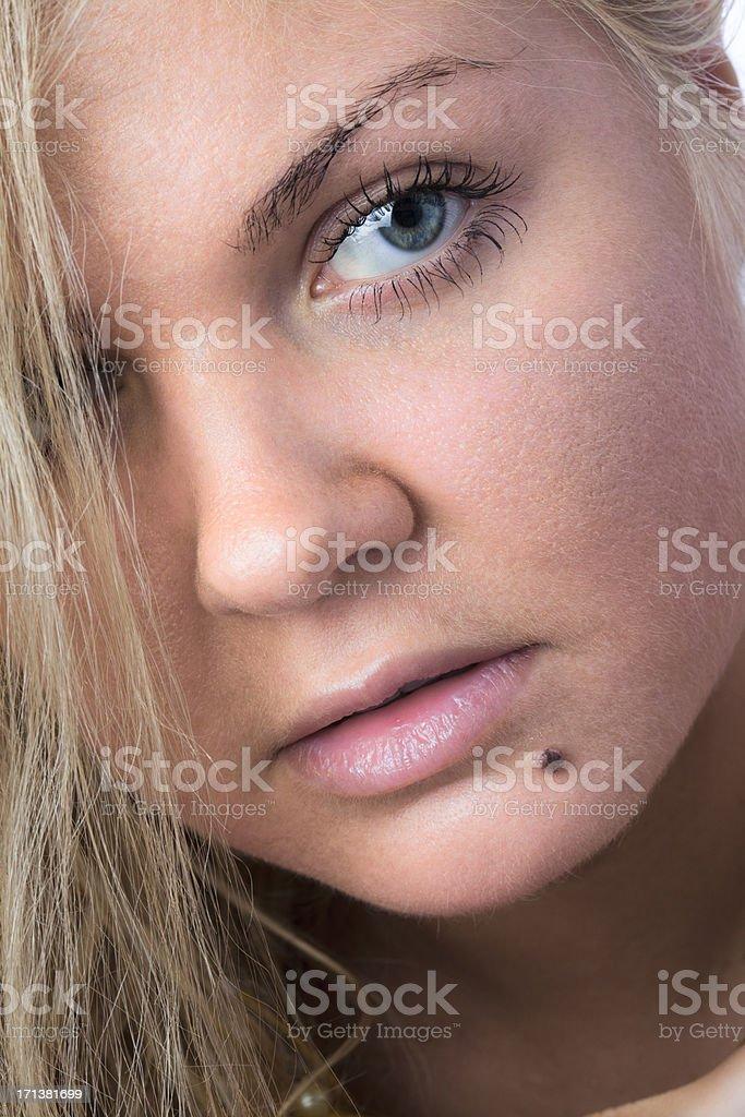 Sensual blonde stock photo