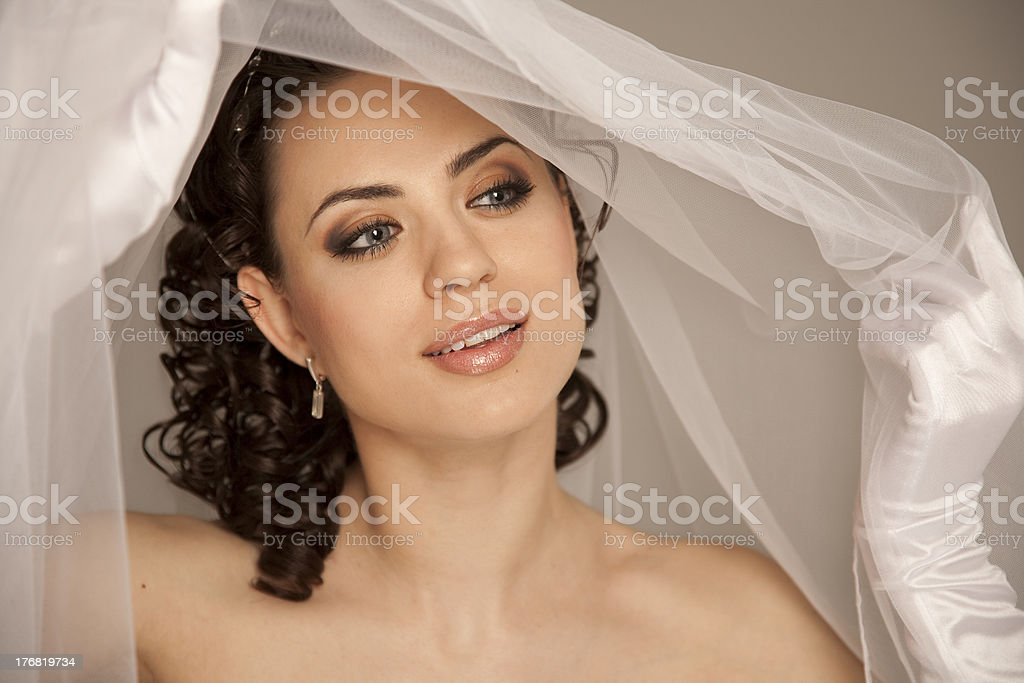 Sensual bride royalty-free stock photo