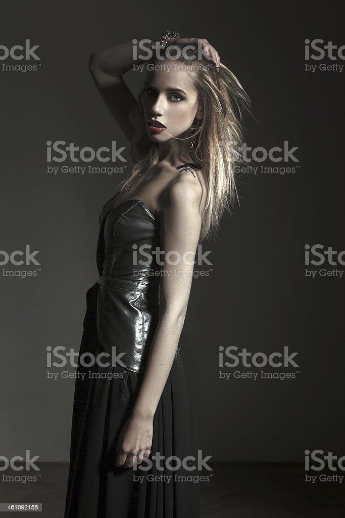 Sensual brunette woman royalty-free stock photo