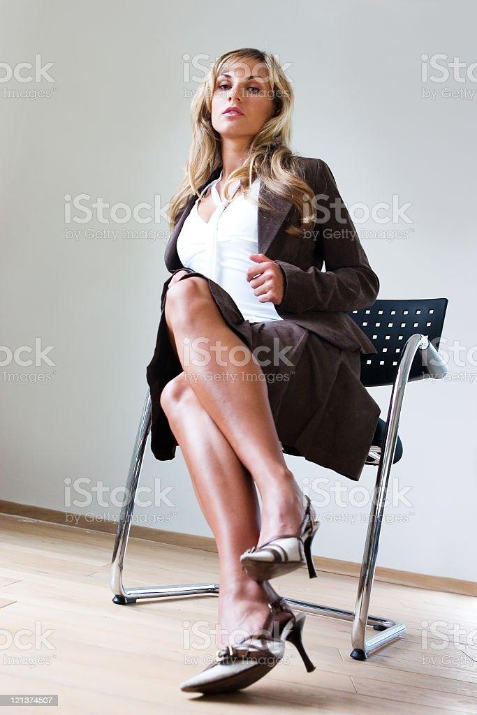 Sensual business woman royalty-free stock photo