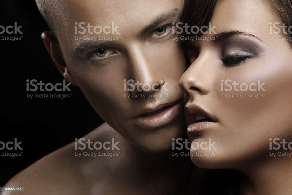 sensual couple in love royalty-free stock photo