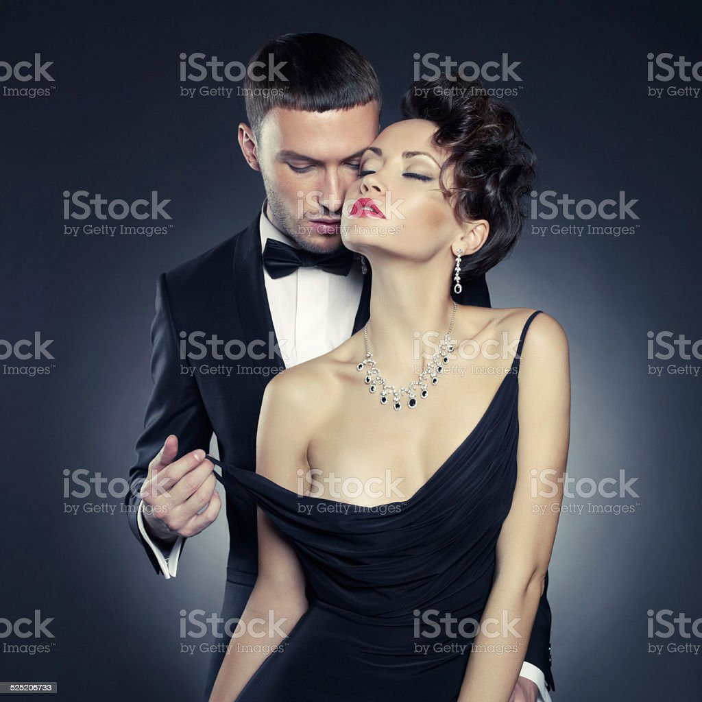 Sensual couple stock photo