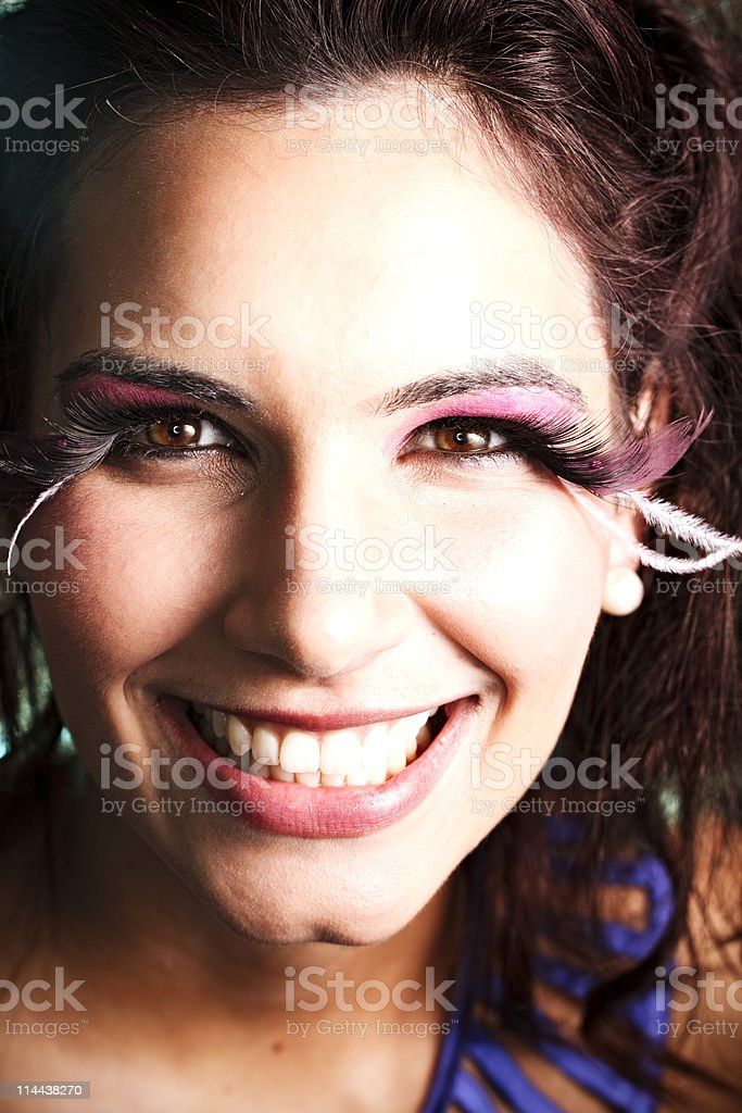 Sensual Disco Dancer Close-up stock photo