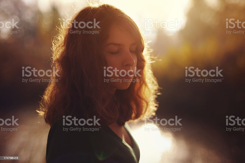 Sensual girl stock photo