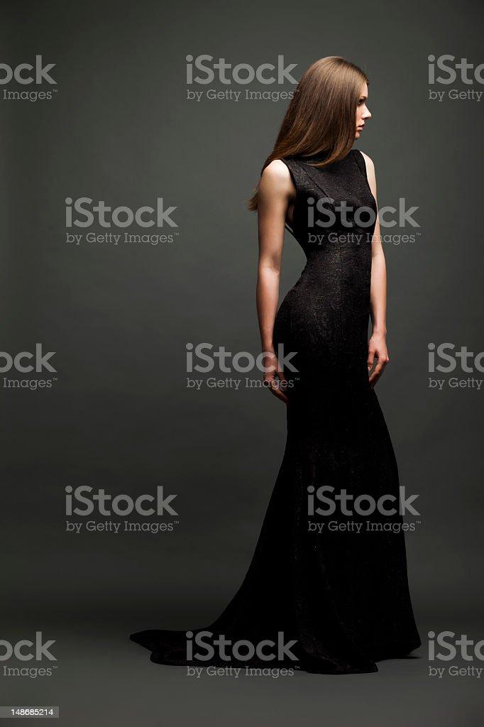 Sensual glamour girl royalty-free stock photo