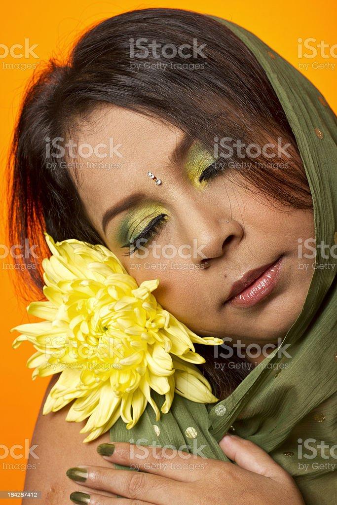 Sensual Indian woman stock photo