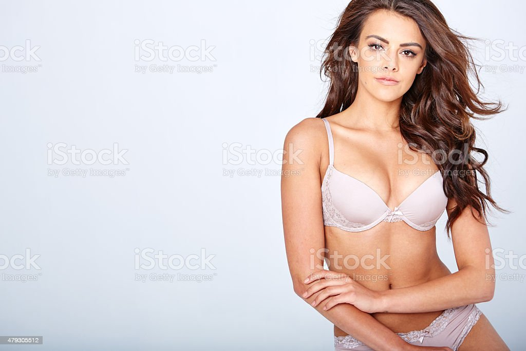 Sensual lady posing in sexy lingerie stock photo