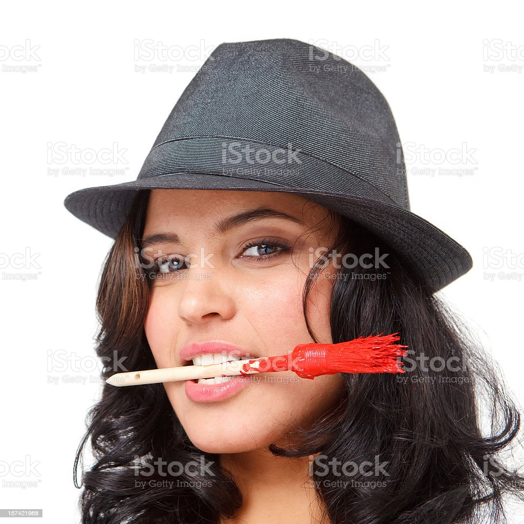 sensual mafia muse stock photo