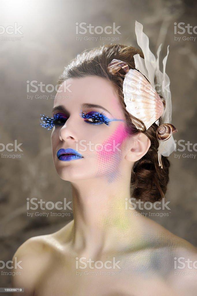 sensual mermaid stock photo