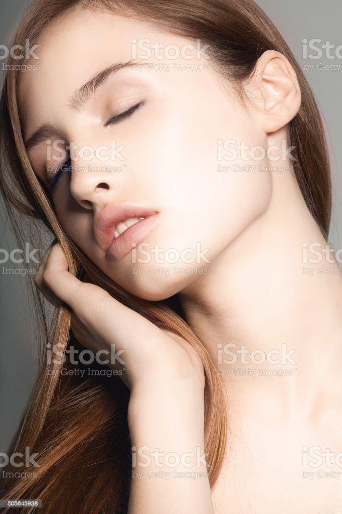 Sensual model  portrait stock photo