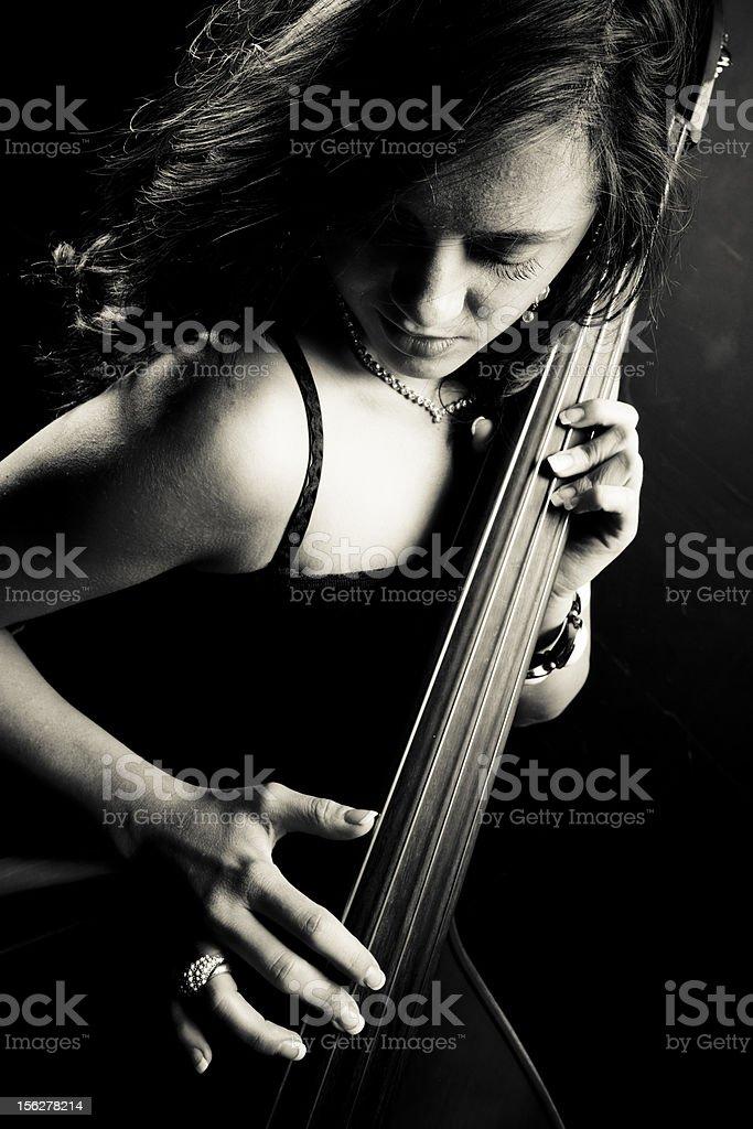 Sensual musician stock photo