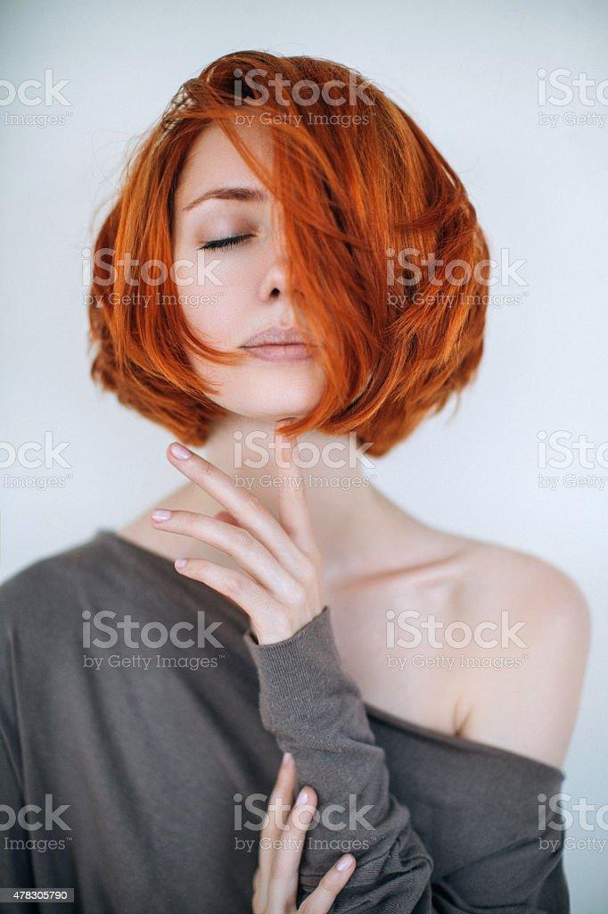 Sensual photograph of a woman stock photo