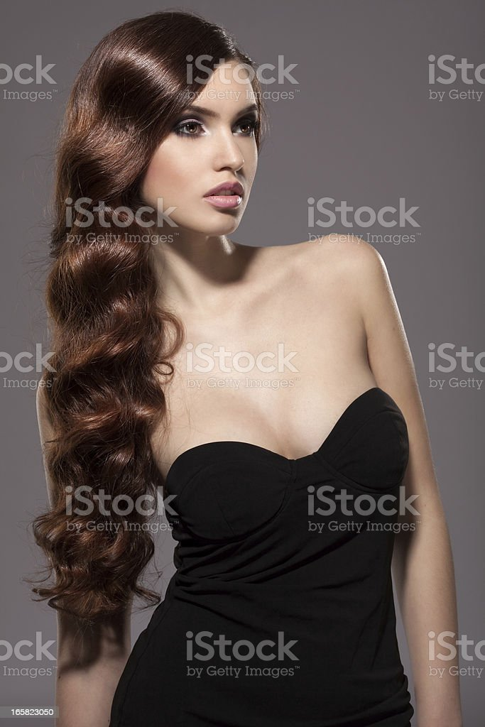 Sensual portrait of a beautiful woman royalty-free stock photo