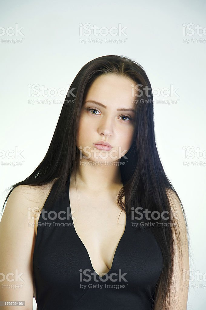sensual sad girl royalty-free stock photo