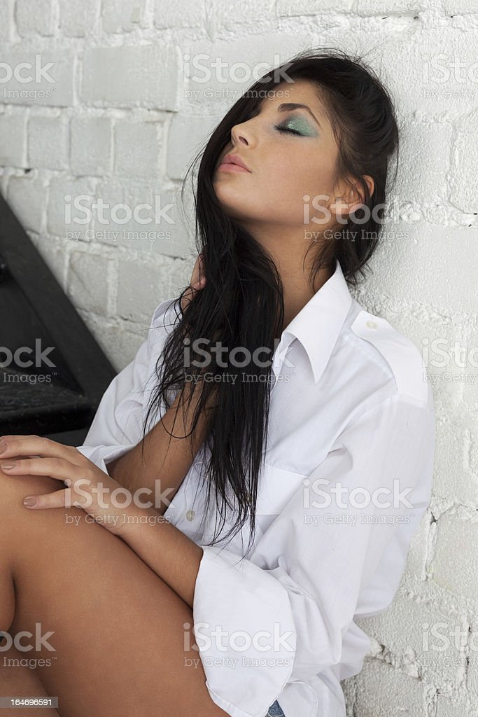 Sensual seduction royalty-free stock photo