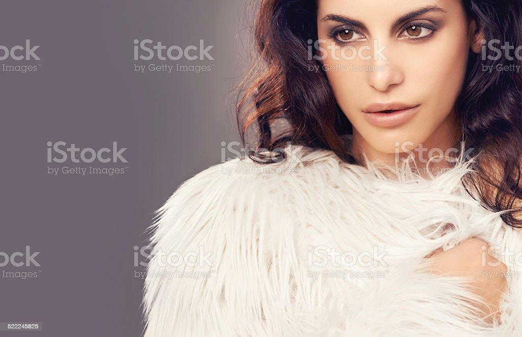 Sensual winter beauty stock photo