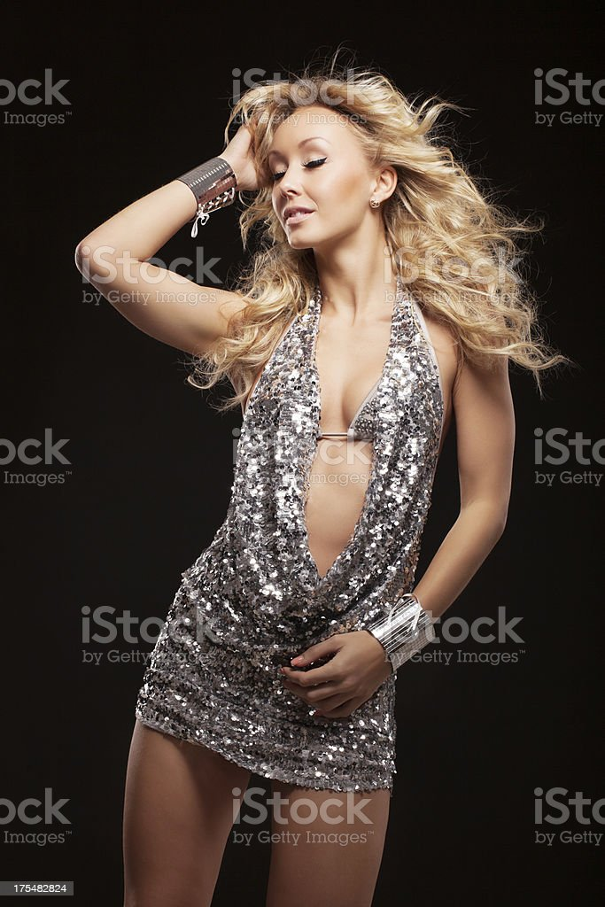 Sensual woman dancing royalty-free stock photo
