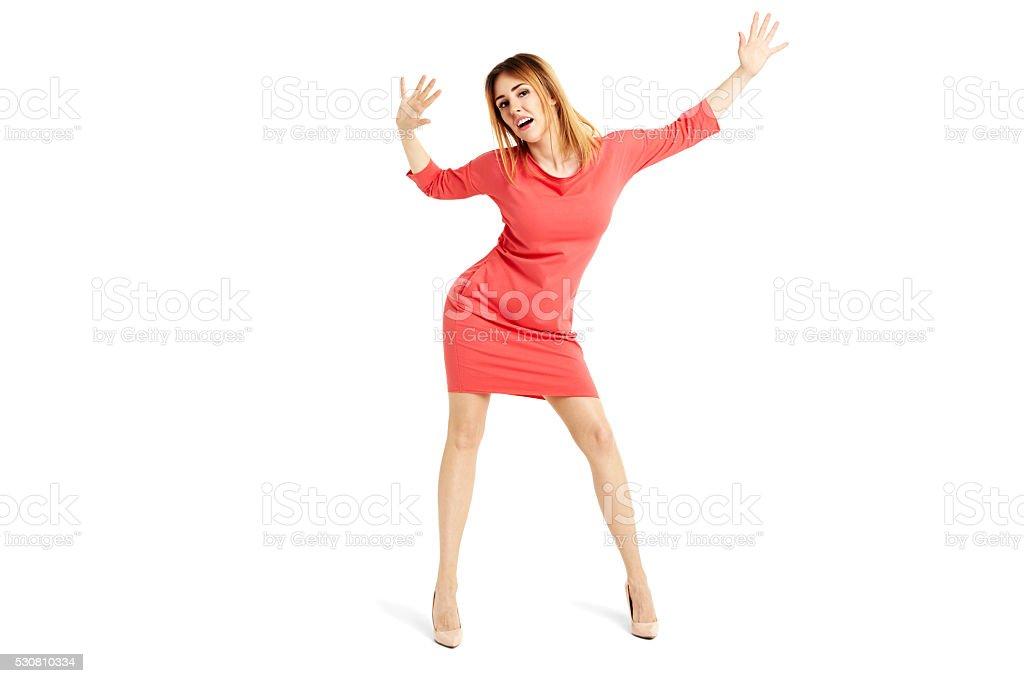 Sensual woman dancing stock photo