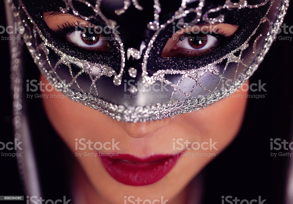 Sensual Woman in a mask stock photo