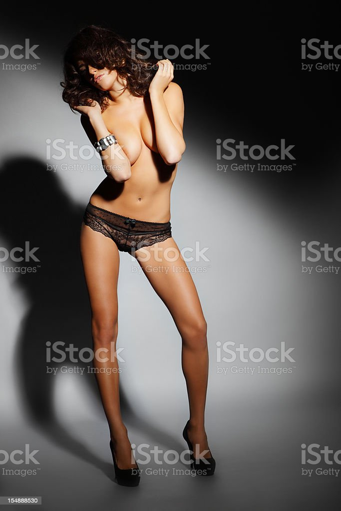 Sensual woman in lingerie stock photo