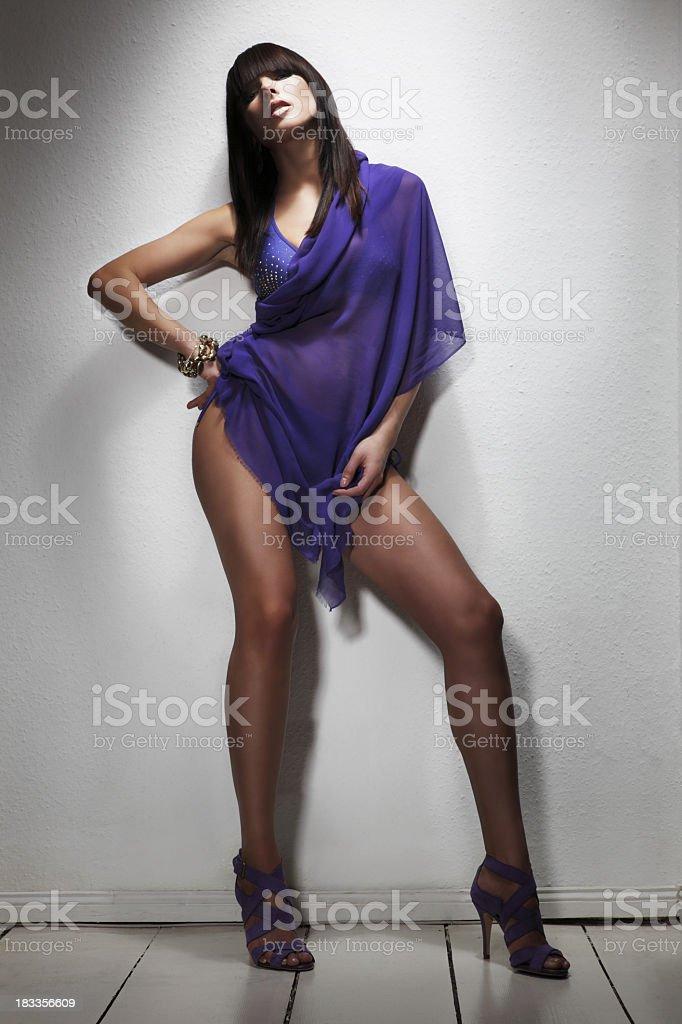 Sensual Woman in Purple royalty-free stock photo