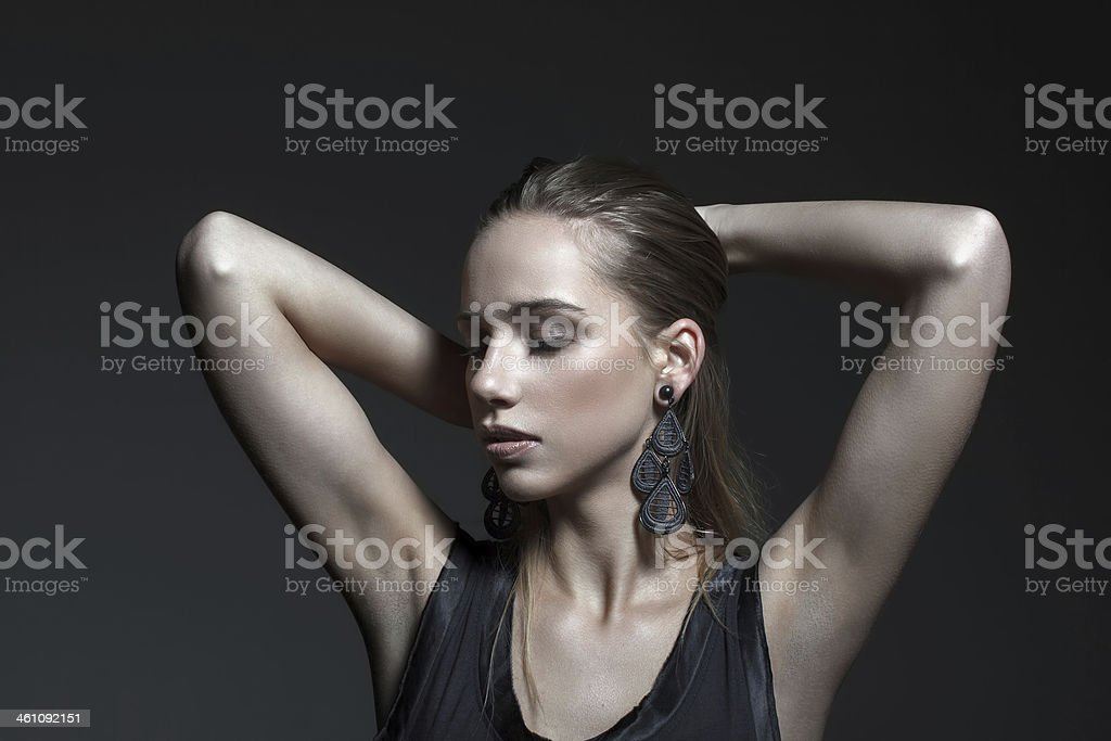 Sensual woman portrait royalty-free stock photo