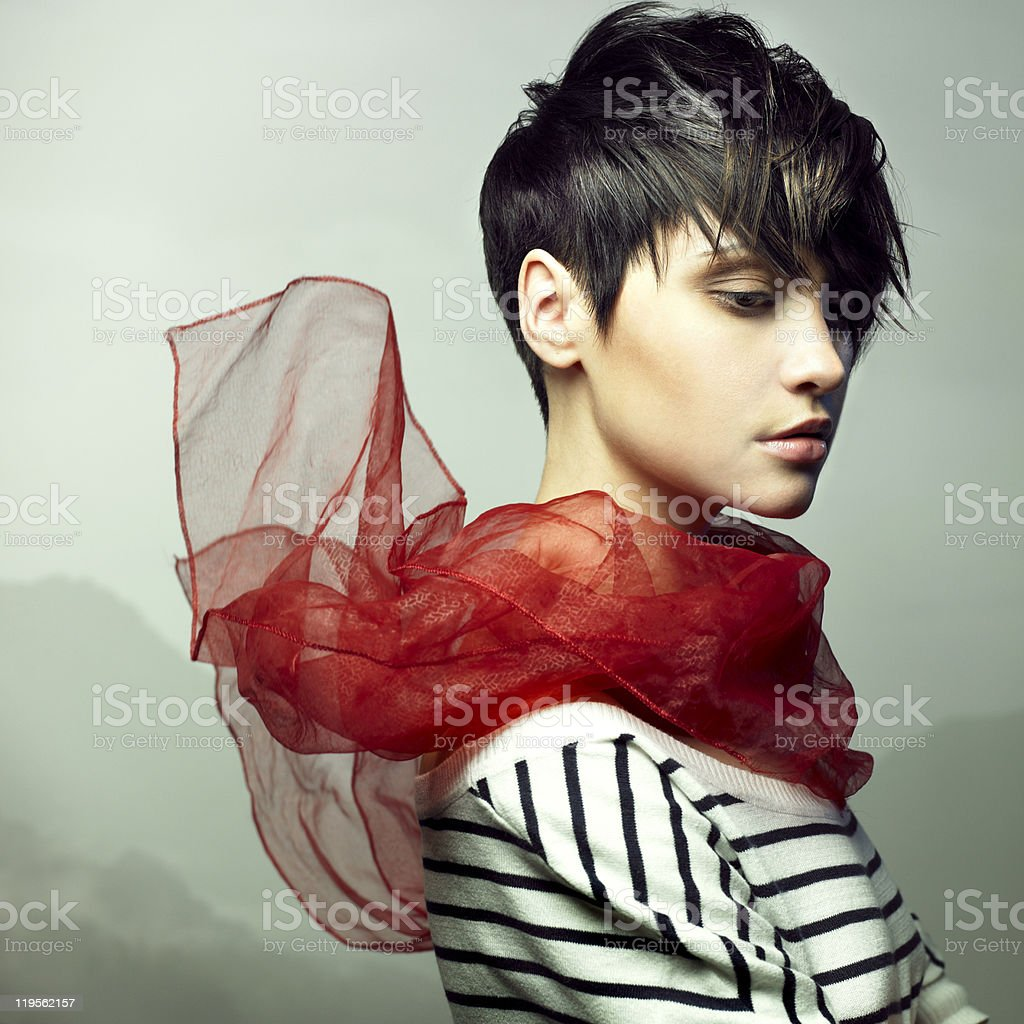 Sensual young woman stock photo