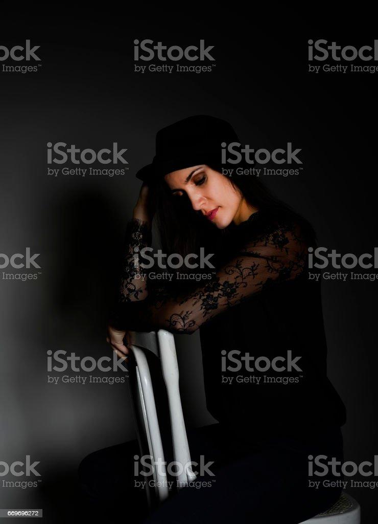 sensual young woman stock photo