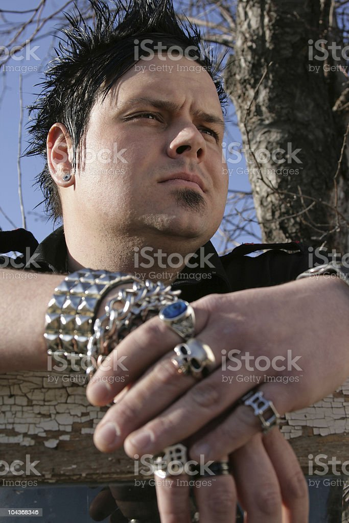 Sentimental male stock photo