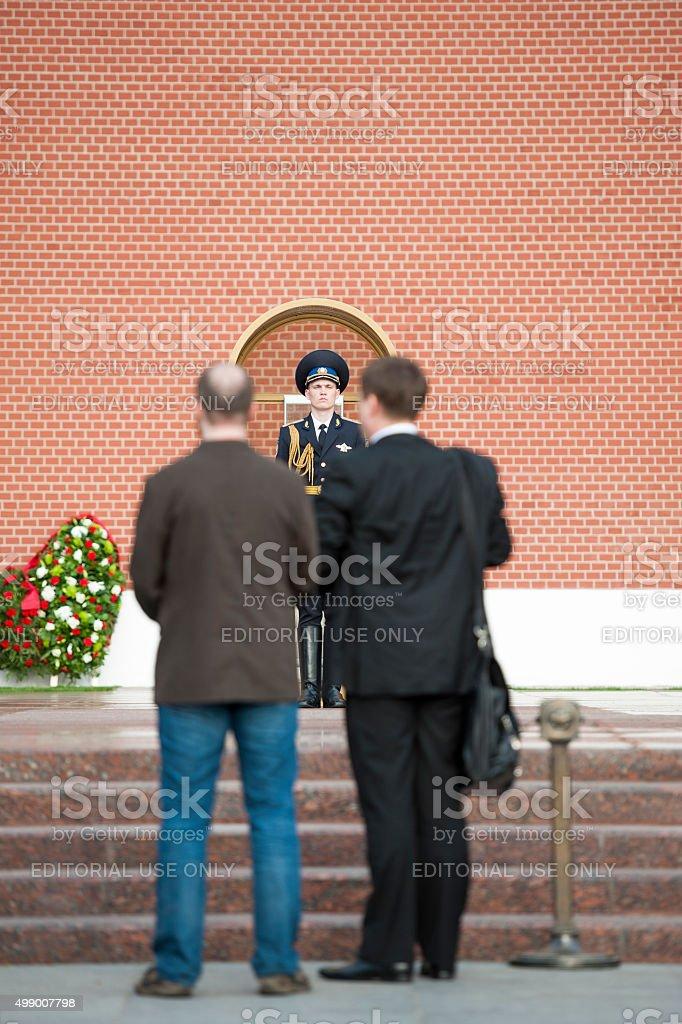 Sentinel at the Kremlin stock photo