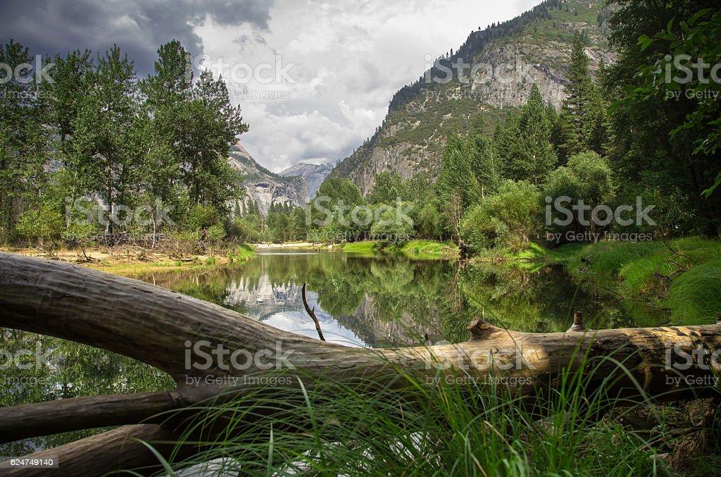 Sentinel Beach, Yosemite Valley stock photo