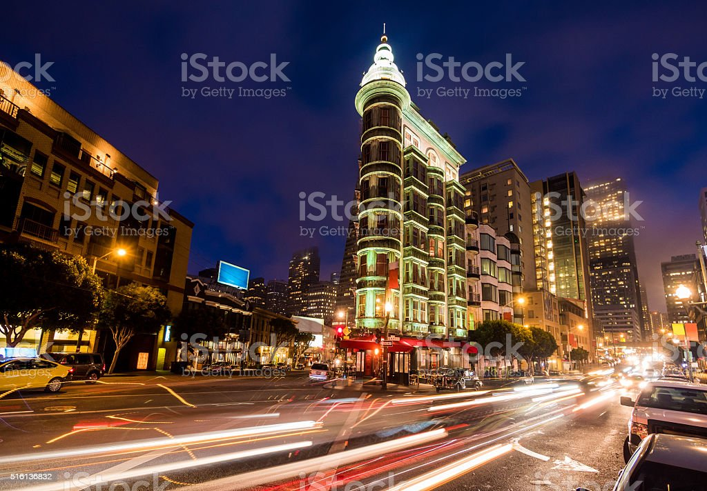 Sentinel building in San Francisco stock photo